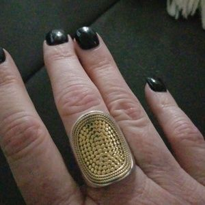 Anna Beck two tone saddle ring.
